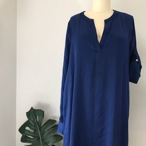 BCBG MaxAzria • Blue Depth Multi-Layered Dress